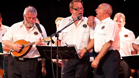 The Sheringham Shantymen who are performing at the Crab and Lobster Festival openinng concert.