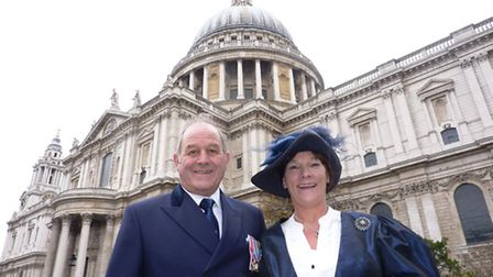 Hilary Cox, pictured with her husband William, has been made chairman of Norfolk County Council. Pic
