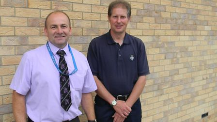 Paul Rushbrook, left, and Graham Kirkup, right, who work at HMP Bure and have been involved in the o