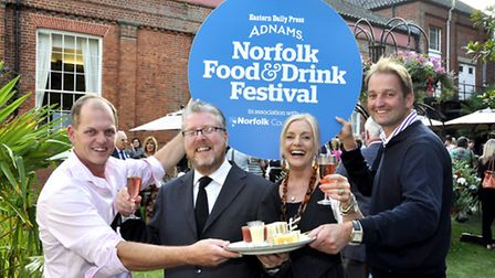 Galton Blackiston (right) was among the north Norfolk winners at the EDP Norfolk Food and Drink Awar