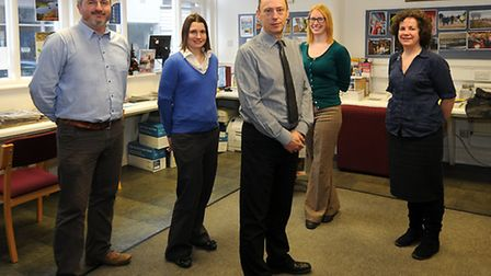 The North Norfolk News editorial team, left to right, photographer Antony Kelly, reporter Sophie Wyl
