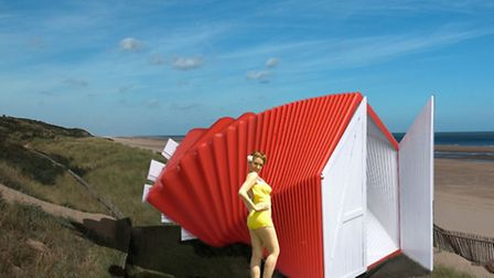 'The Wizard of Oz' by Lionel T Dean, Future Factories. A concertina style Nissen hut with echoes of