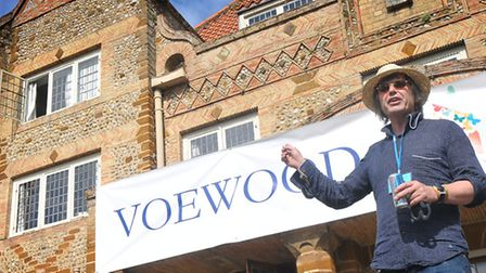 Simon Finch, owner of Voewood welcomes guests to an earlier festival. PHOTO: ANTONY KELLY