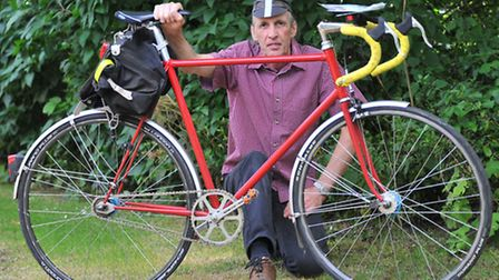 Chris Brown, 61, who was the victim in an incident during a cycle event last year. Photo by Simon Fi