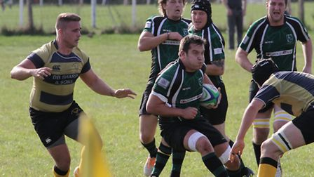 Ashley Speight in action during North Walsham's game against Letchworth.