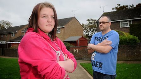 Jessica Read, 15, who had a long wait for an ambulance after she fell unconscious. Pictured with her