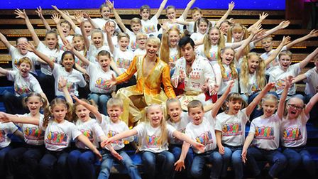 Members of the Broadland Youth Choir who are performing in Joseph and the Amazing Technicolour Dream
