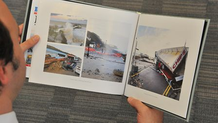 The EDP Turning the Tide photo book.Picture by SIMON FINLAY.