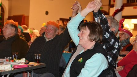 Local residents celebrate Christmas at the Cromer Carnival Christmas concert. Picture: DAVE 'HUBBA'