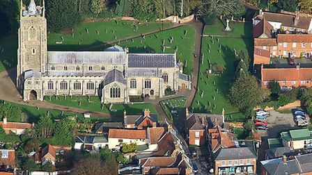 St Michael's, Aylsham. From Norfolk Churches From The Air. Picture: MIKE PAGE/POPPYLAND PUBLISHING