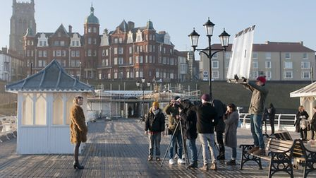 High-end fashion shoot on Cromer Pier. Picture: Malcolm English