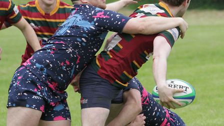 Action from North Walsham Sevens. Photo: HYWEL JONES