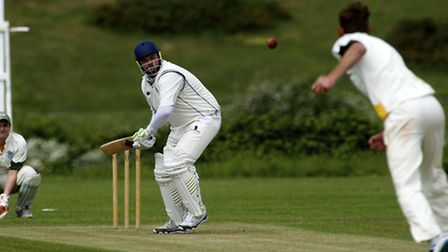 Cricket action from the Norfolk Alliance Division Four match between Sheringham v Norwich B - Sherin