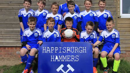 HAPPY HAMMERS!: Happisburgh Hammers, who have had a dream first season.