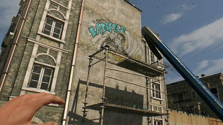 Mural to David Acott in 'Dying Light' game