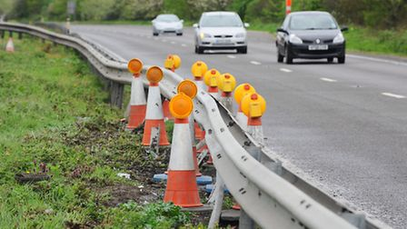 The scene of the fatal crash on the A47 near Brundall. Picture: James Bass
