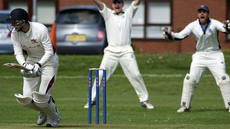 Cricket action from the Norfolk Alliance Premier Division match between Cromer and Fakenham. Fakenha