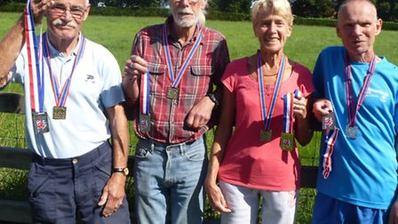 north norfolk beach runnersPhoto attached of prizewinners Malcolm Ball, Jim Hayes, Brenda Kinch and