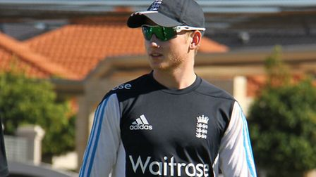 RISING STAR: Cromers Callum Taylor, pictured while on England U19 duty in Australia, has signed a ne