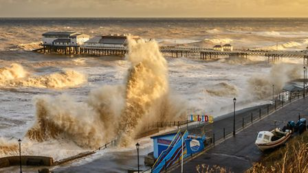 Tidal surge at Cromer pier on Friday 6th December 2013. Picture: Citizenside.com (Steve Docwra)