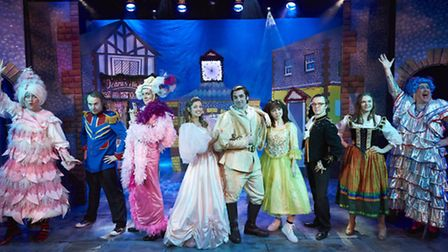 The cast of Cinderella, the new panto at Sheringham Little Theatre.