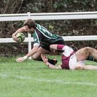 Will Catchpole marks his North Walsham Vikings debut with a try at Ruislip on Saturday afternoon. Pi