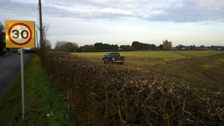 Plans for 100 news homes on farmland off Norwich Road in North Walsham have been put on hold.Photo b
