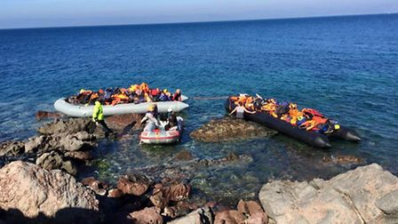 Carmine De Grandis, 44, from Aldborough, volunteered to fly out to Greece to help those fleeing the