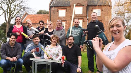 Mill House in Wells is to be used in 2016 by the charity Break. Pictured are staff and volunteers of
