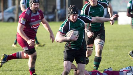 Action from North Walsham's match. Photo: Hywel Jones