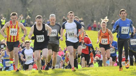 Funny Bell Cross Country Charity race in aid of BREAK. Start of the Adult's race. Picture: MARK BULL