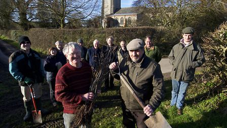 Members of Erpingham community are planting 600 trees from the Woodland Trust to mark the battle of
