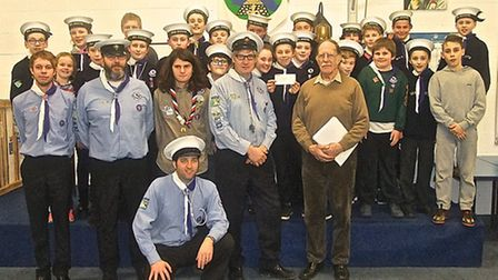 Robin Rush raised money for Buxton Scouts.