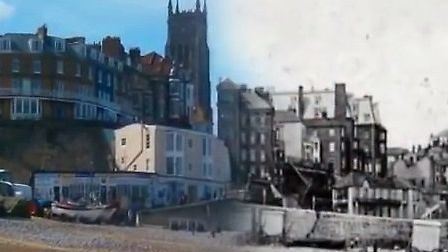 Cromer morphs back in time in 3D. Picture: YouTube/James Fox.