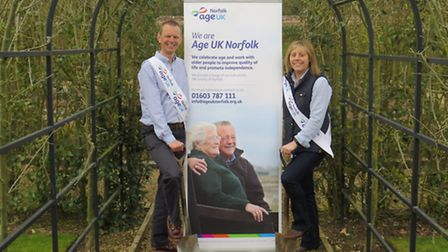 Michael Wild, corporate and community fundraiser for Age UK Norfolk and Helen Chapmanfundraising rel