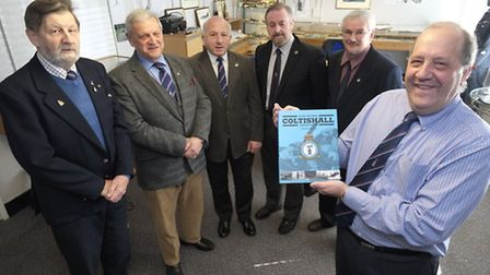 Members of the newly formed RAF Coltishall Memorial Trust who's group aim is to preserve and display