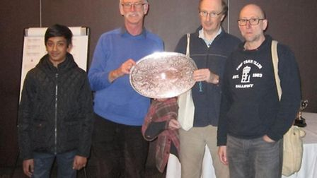 From left: Karthik Saravanan, Paul Badger, Gerald Moore and Roy Huges who won the National Club Cham