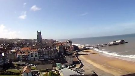 Cromer from the air. John Finagin/YouTube