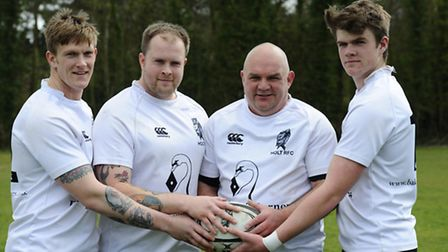 Four members of the Tagg family who are playing in the Holt 3rd team against Norwich Crusaders. Pict