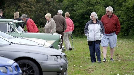 MG car rally at Northrepps Village Hall - Picture: MARK BULLIMORE