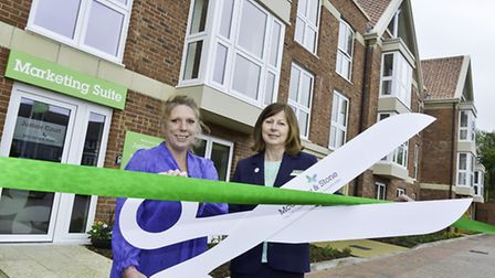 House Manager, Sharon Hayden and Sales Executive, Sally Burton, mark the official opening of Justice