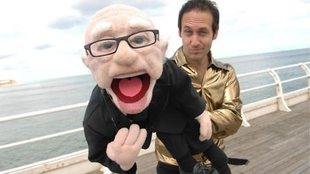 Steve Hewlett with his puppet Arthur were one of the headline acts at Mundesley Festival this year.