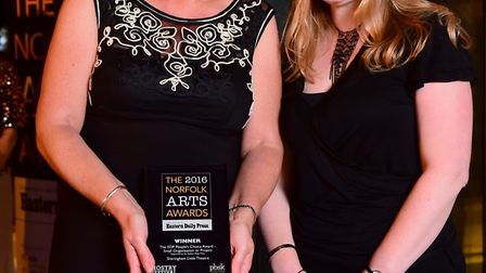 The 2016 Norfolk Arts Awards at the Hostry at Norwich Cathedral. EDP People's Choice Award winners S