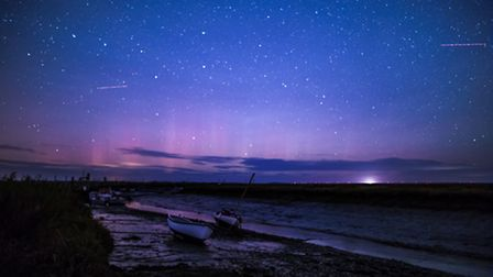 The Aurora photographed from North Norfolk on the 28th October. Picture by Paula Sparkes