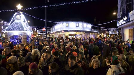 Crowds converged on Sheringham for last year's Christmas lights switch-on. Picture: MARC PEIRSON