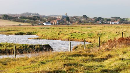 Salthouse from across the marshes. Photo: Peter Dent