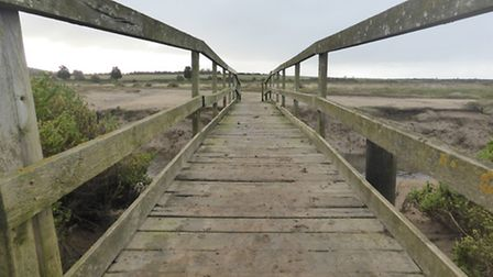 The rails on a Bridge at Stiffkey. Photo: Martin Sizeland