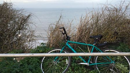 The bike was found abandoned in Runton Road car park in Cromer by our reporter.