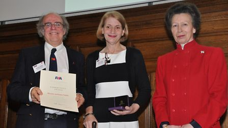 Alistair and Karen Fields received an RYA Lifetime Commitment Award from Her Royal Highness The Prin