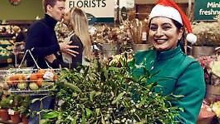 Morrisons is hoping to get customers in the mood for Christmas with mistletoe giveaway. Picture: MOR
